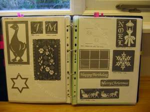 Sampler page of photocopies of stencils