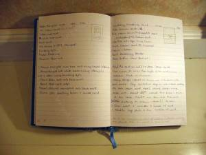Card log notebook