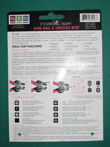 Instruction sheet from Crop-A-Dile tool