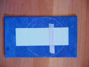 Double sided tape to hold the ribbon closure