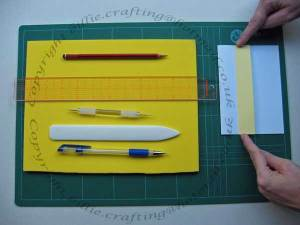 Tools & equipment for making a piercing template for bookbinding