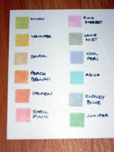 Adirondack Lights Colour chart