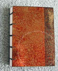 Coptic Stitched Book, covers decorated using Ranger Alcohol inks