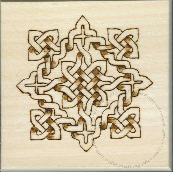Celtic style Pyrography Box | Billie's Craft Room