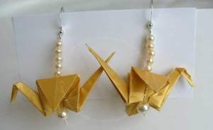 Origami Peace Crane earings