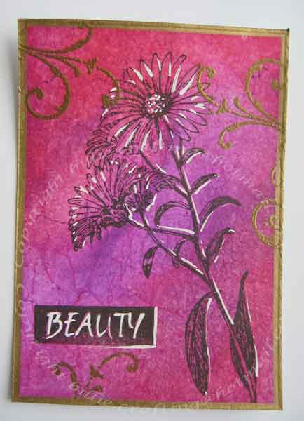 My ATC for Book Arts Forum ATC Swap 2008