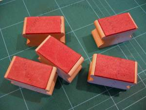 Blank rubber stamps