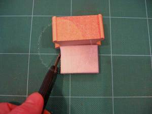 Cut the foam to the same size as the wooden block