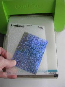 Fantasy Film Paper after Embossing using Cuttlebug Embossing Folder