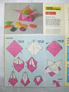 Origami Box described