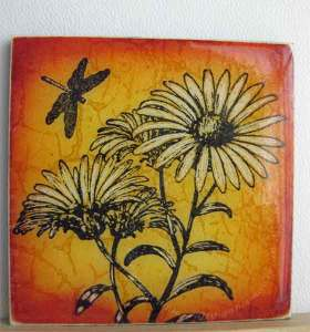 Front cover tile made of stampboard