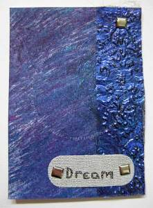 My ATC for trade with Sue BLeiweiss