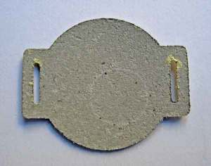 Circle Slider Die cut from Grunge Paper
