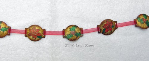 Close up of Billie's Grunge Paper Garland