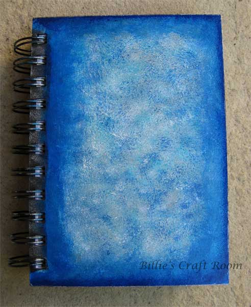 Here is my art journal with painted cover