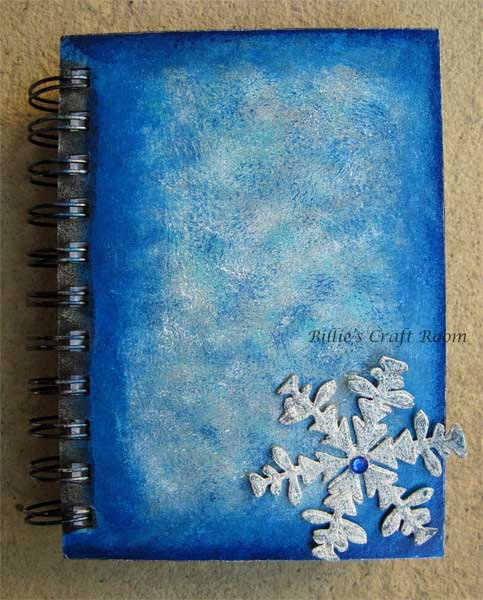 Adding dimension with Grunge Paper snowflake