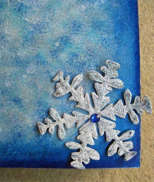 Here is a close up of the Grunge Paper snowflake.