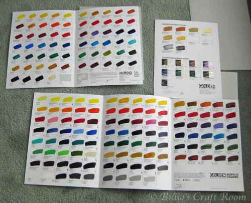 Paint charts from Golden
