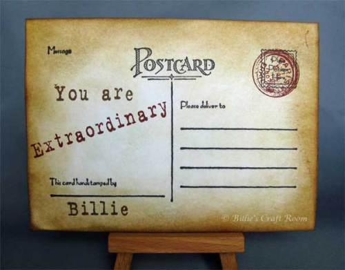 Vintage Postcard - Back