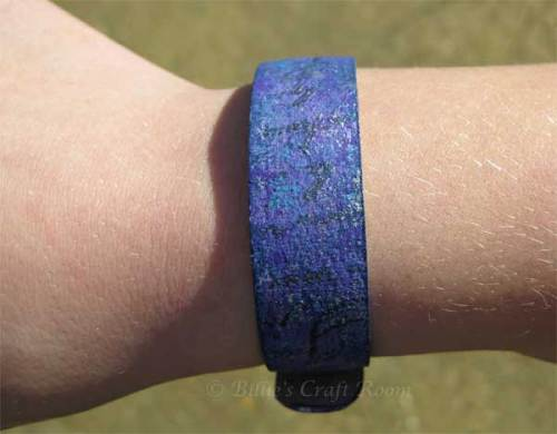 Purple Grungebord Bracelet