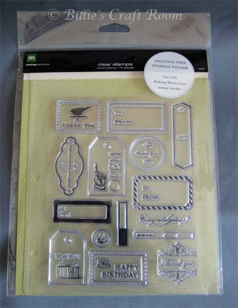 Making Memories, Clear Stamps, Cardmaking Set