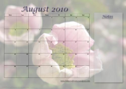 Calendar August 2010