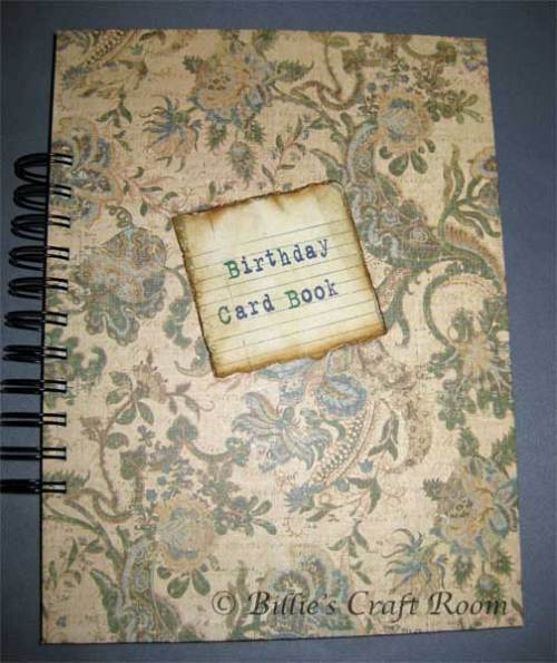Card Storage Journal; Cover
