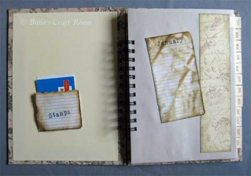 Card Storage Journal; Inside Cover