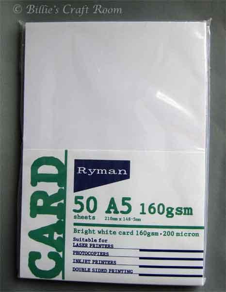 Rymans Card Stock