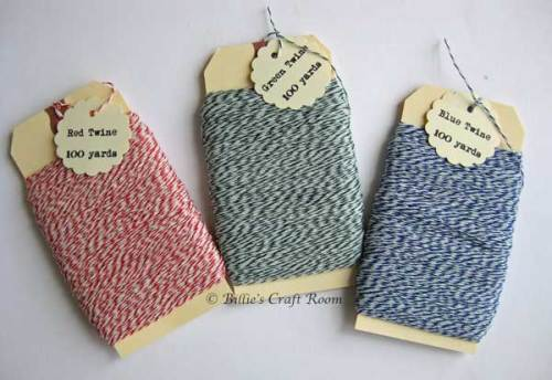 Baker's Twine; Red, Green and Blue