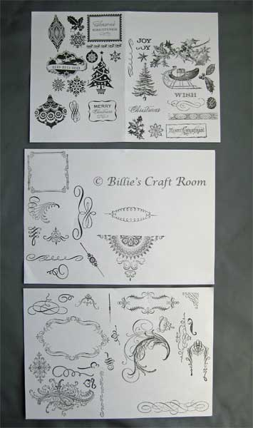 Images stamped from; Anna Griffin Clear Stamps; Christmas set 2010 & Flourishes