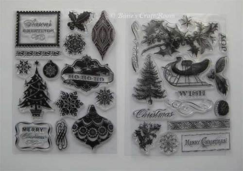 Anna Griffin Clear Stamps; Christmas set 2010