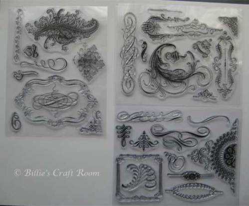 Anna Griffin Clear Stamps; Flourishes set