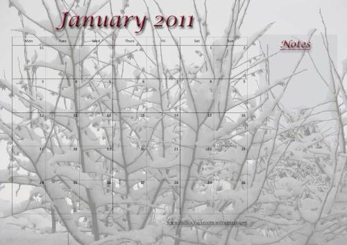 Free download: Calendar-January-2011