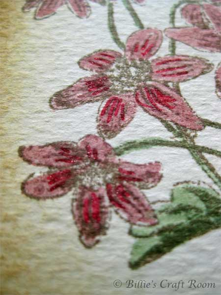 Close up of Vintage Floral ATC