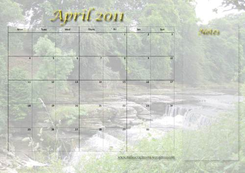 Free download Calendar-April-2011