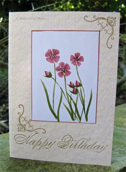 Rock n Roll Flower Card using Zig Art & Graphic pens