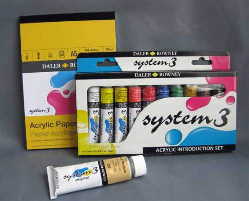 A great starter collection in Daler Rowney System 3 Original paint.