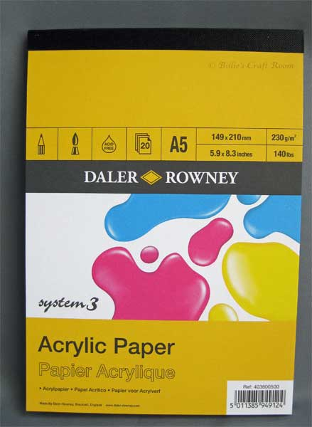 Daler Rowney; System 3, Acrylic Paper