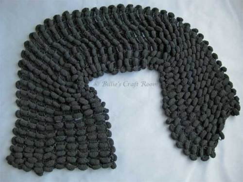 Scarf using Grundl Pom Pom Yarn