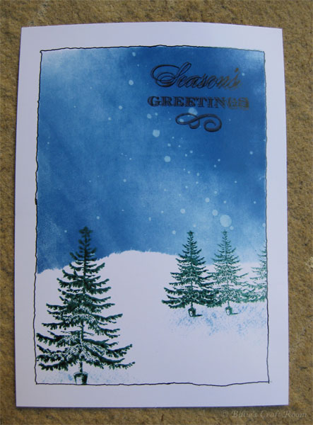 Brayered Christmas card with Anna Griffin stamps