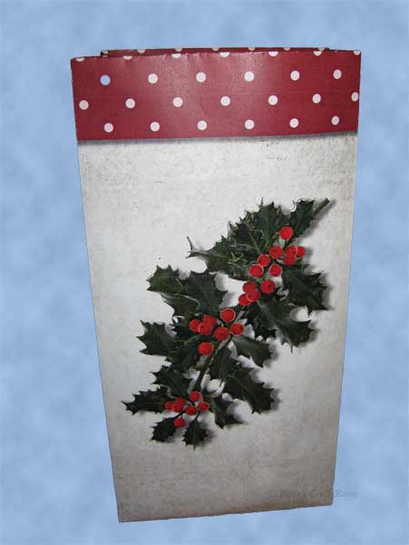 Medium/Large Gift Bag. Christmas Holly 2011