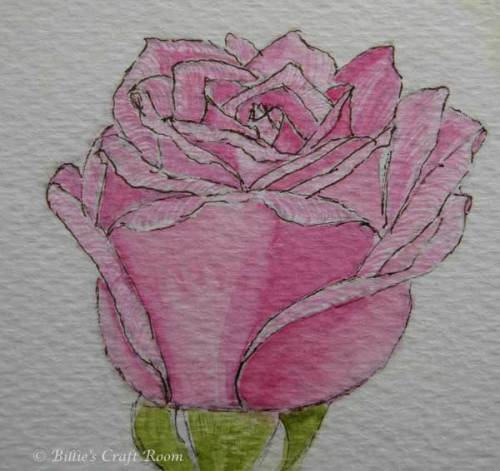 Watercolour Rose 3