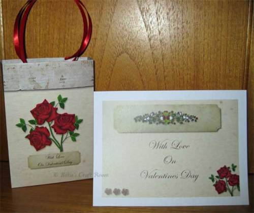 Valentine's Day card & Gift Bag