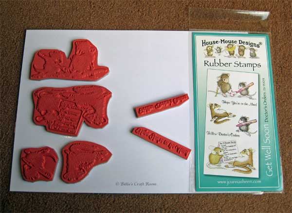 Storing; Joanna Shhen House Mouse; Get Well Soon Stamps