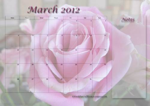 Free Calendar Page: March 2012