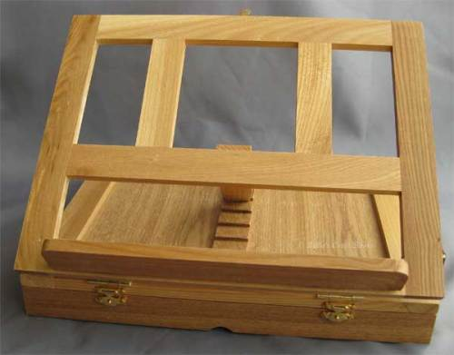 Avon box easel; open