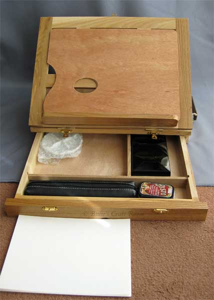 Avon Box Easel; storage drawer