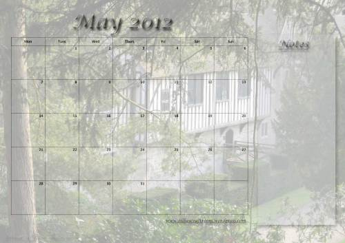 Free Calendar Page: May 2012