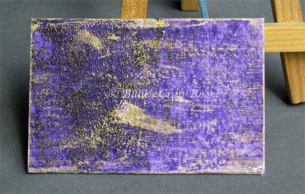 Vintage Purple Distressed Panel